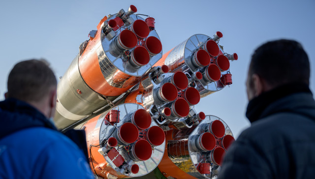 Expedition 65 Soyuz Rollout
