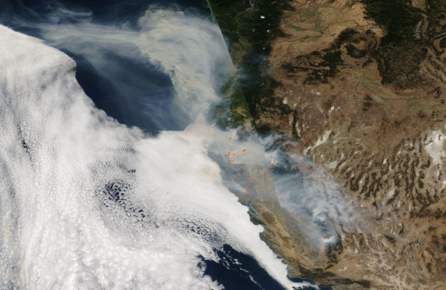 Satellite Captures Active Fires in the Western U.S.