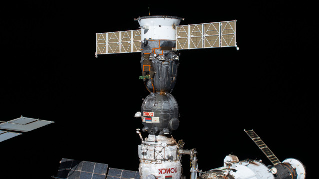 Soyuz MS-16 Spacecraft Docked to the Space Station